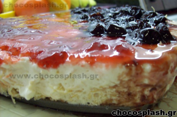 CHEESE CAKE ΜΕ ΚΑΝΤΑΪΦΙ  Ή μήπως εκμέκ με κρέμα cheese cake